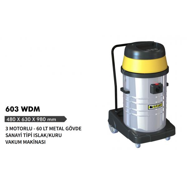 Star 603 WD-M 3 MOTORLU ISLAK-KURU VAKUM